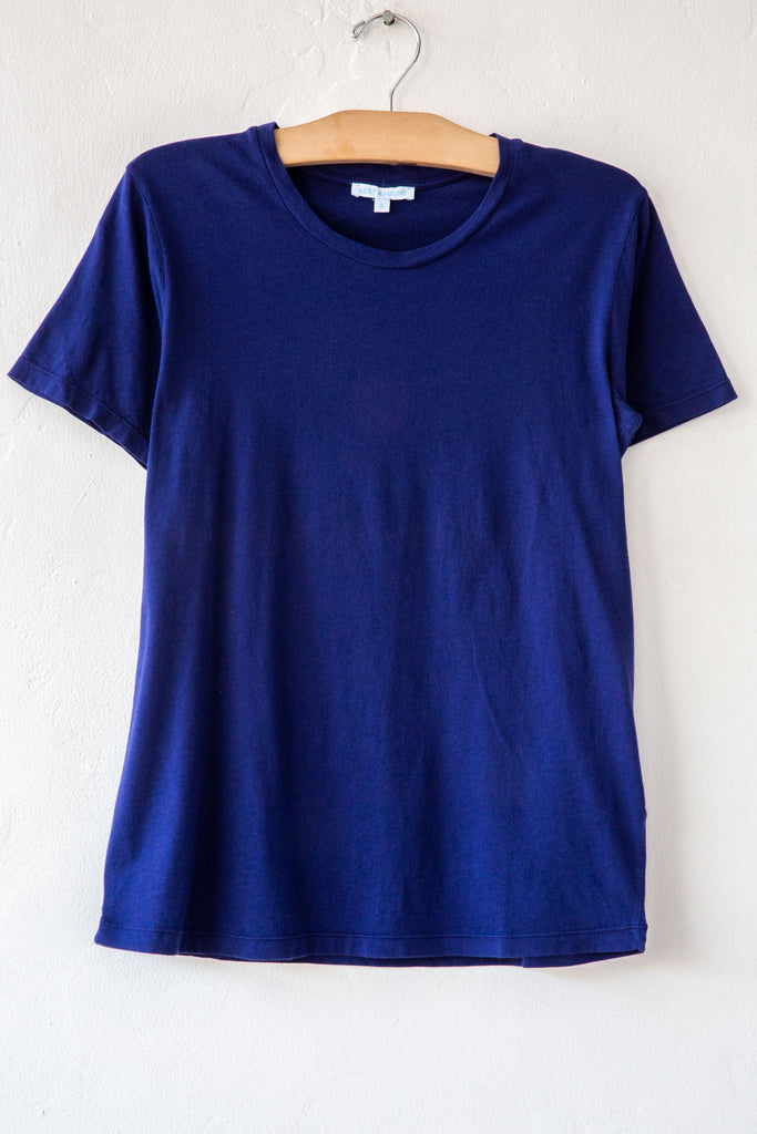 lost & found indigo basic short sleeve tee