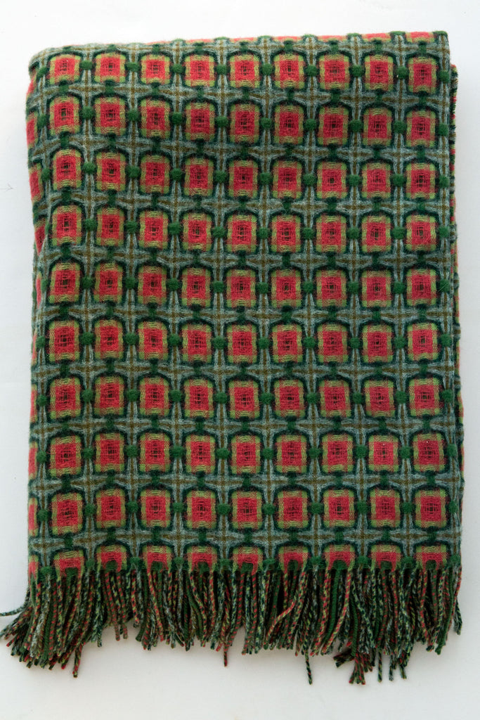 Paulette Rollo  basket weave watermelon throw