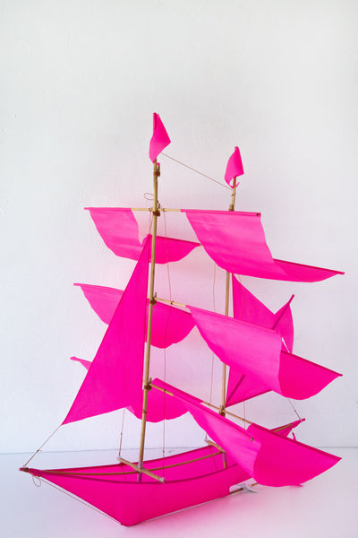 haptic lab pink sailing ship kite
