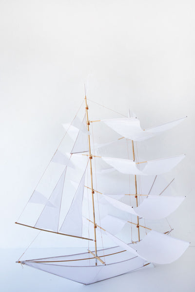 haptic lab white ghost sailing ship kite