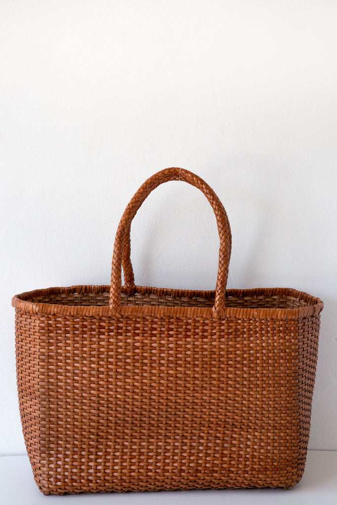 Dragon Diffusion tan basket weave max tote