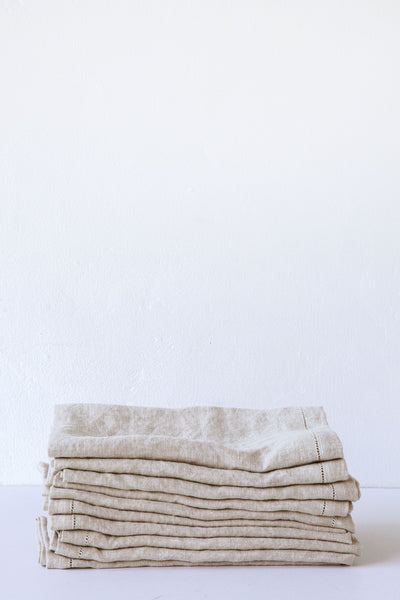 Lost & Found Sand Hemstitch Linen Napkin