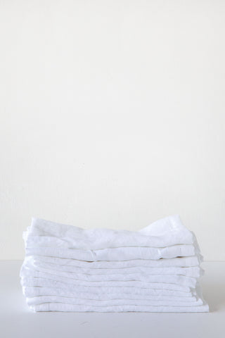 Lost & Found White Hemstitch Linen Napkin