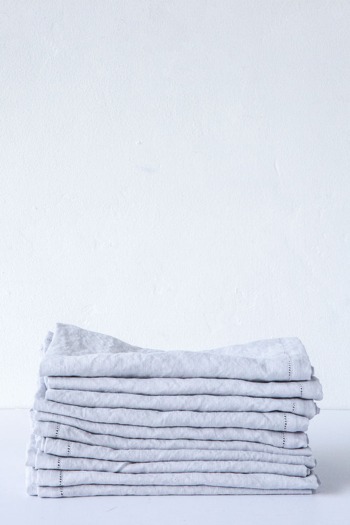 Lost & Found Moonbeam Hemstitch Linen Napkin