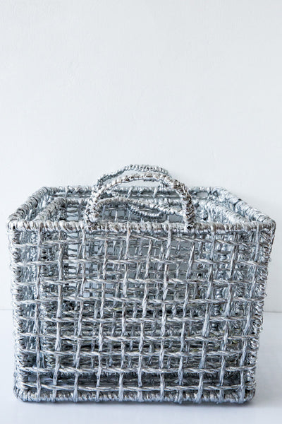 lost & found silver  basket