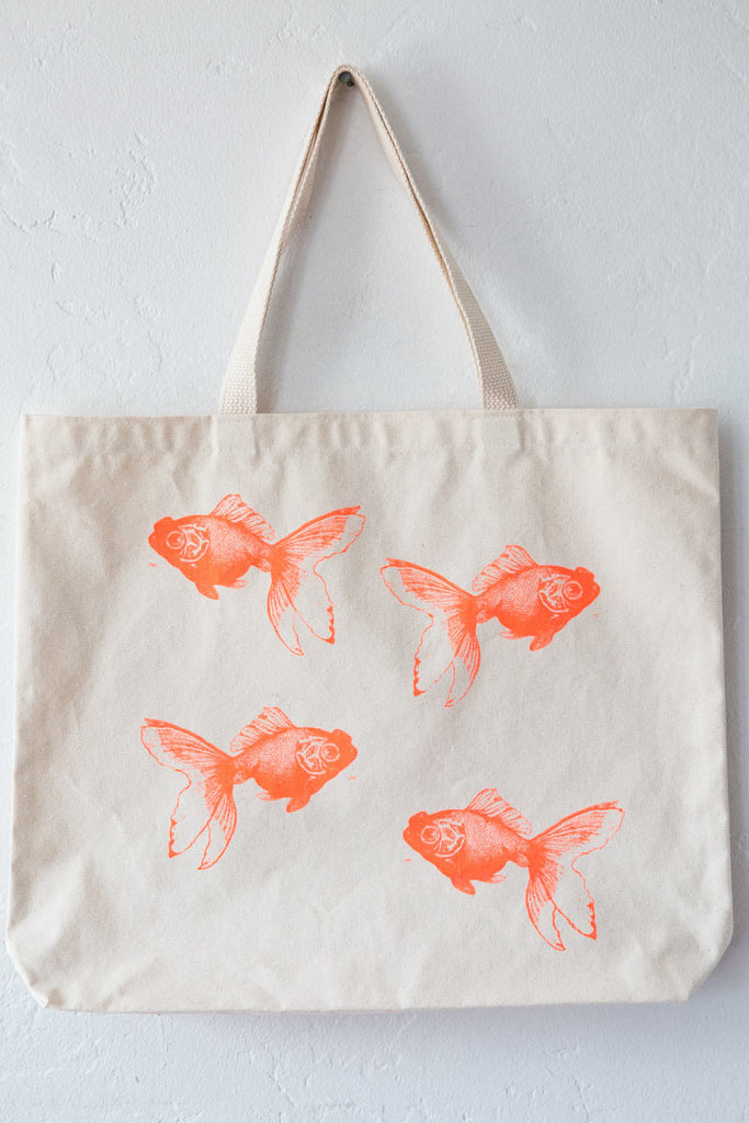 lucky fish goldfish tote