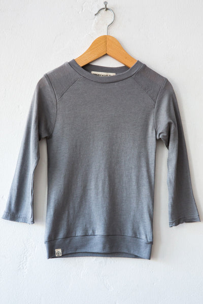 lennon + wolfe grey spencer l/s tee