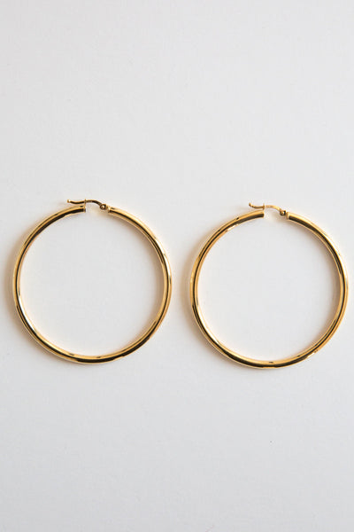 gold 3mm hoops