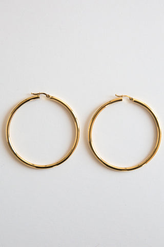 gold 3mm hinge hoops
