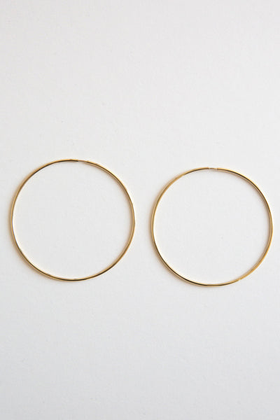 gold 1mm hoops