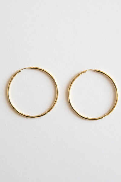 gold 1.5mm hoops