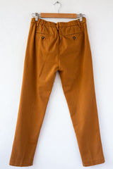 MYTHS Cognac Slim Straight Trouser
