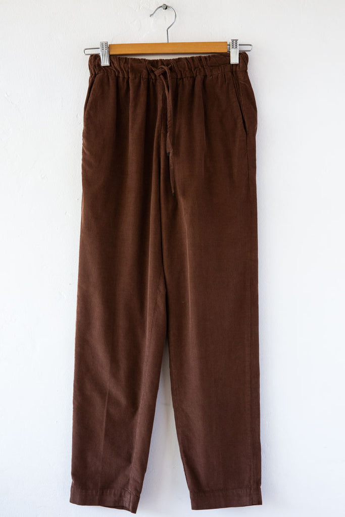 MYTHS Brown Cord Drawcord Pant