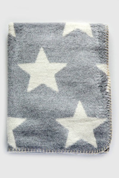 david fussenegger grey/white panda stars blanket