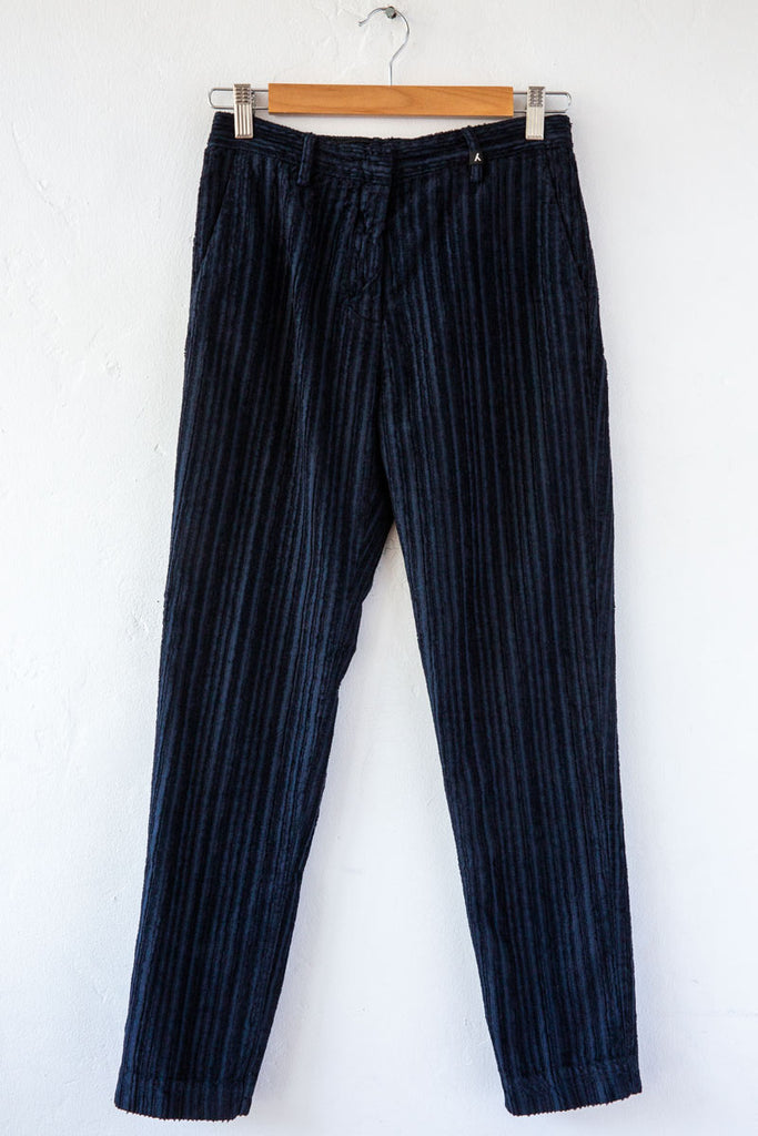 MYTHS Navy Cord Straight Trouser