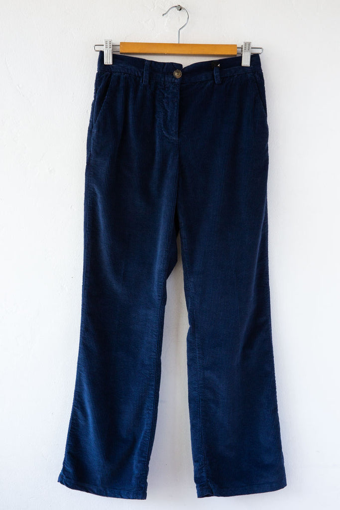 MYTHS Navy Cord Flare Trouser