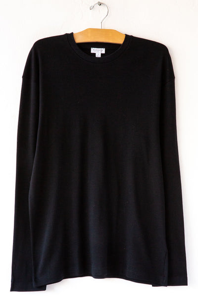 Sunspel Black L/S Crew