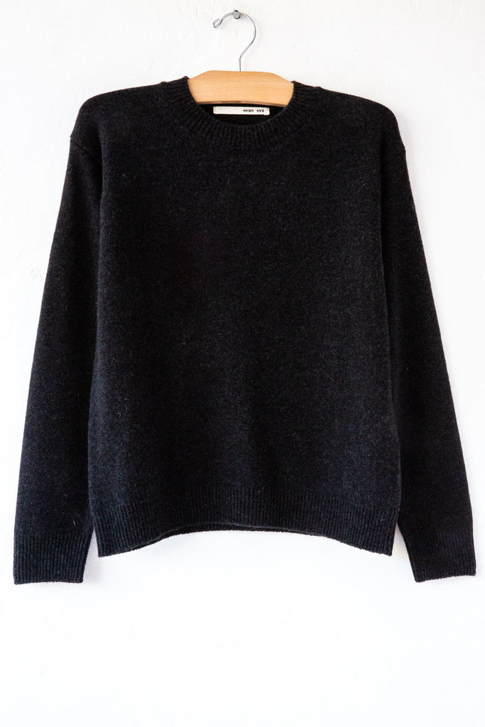 Evam Eva Charcoal Sable Pullover Sweater