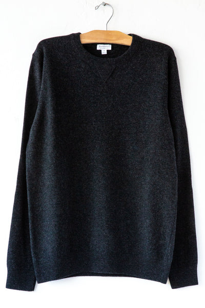 Sunspel Charcoal Melange Sweater