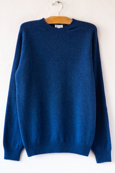 Sunspel Woad Crew Sweater