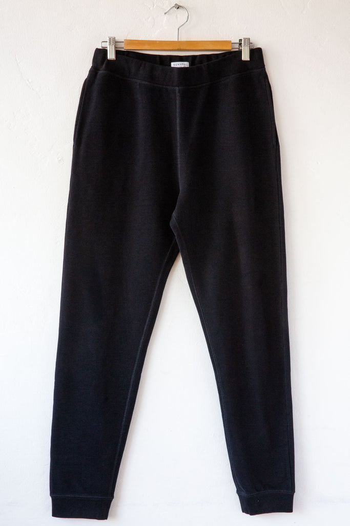 Sunspel Black Track Pant