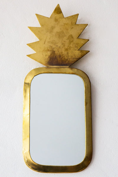 honore brass pineapple mirror