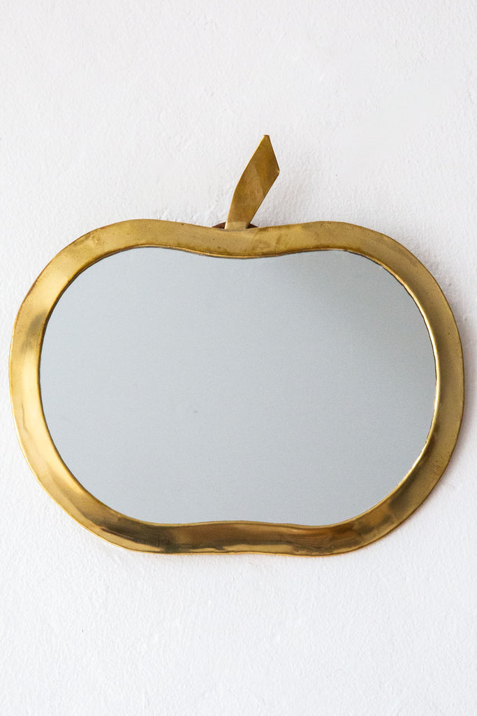 honore brass apple mirror