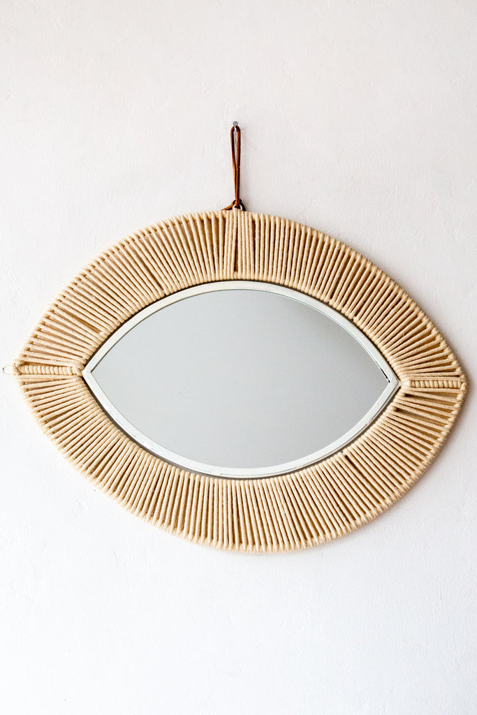 honore natural rope large eye mirror