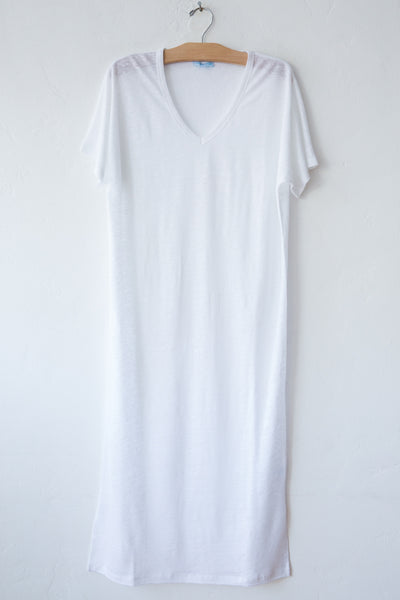 lost & found white linen long dress