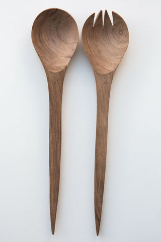 Lost & Found Walnut  Salad Server