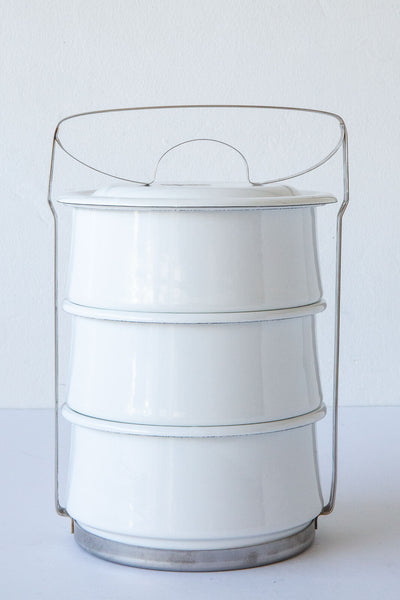Riess White 3 tier Casserole Carrier