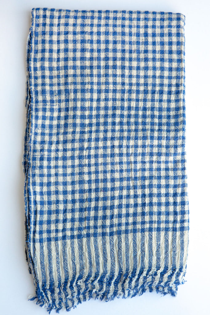 Auntie Oti  Blue Gingham Towel