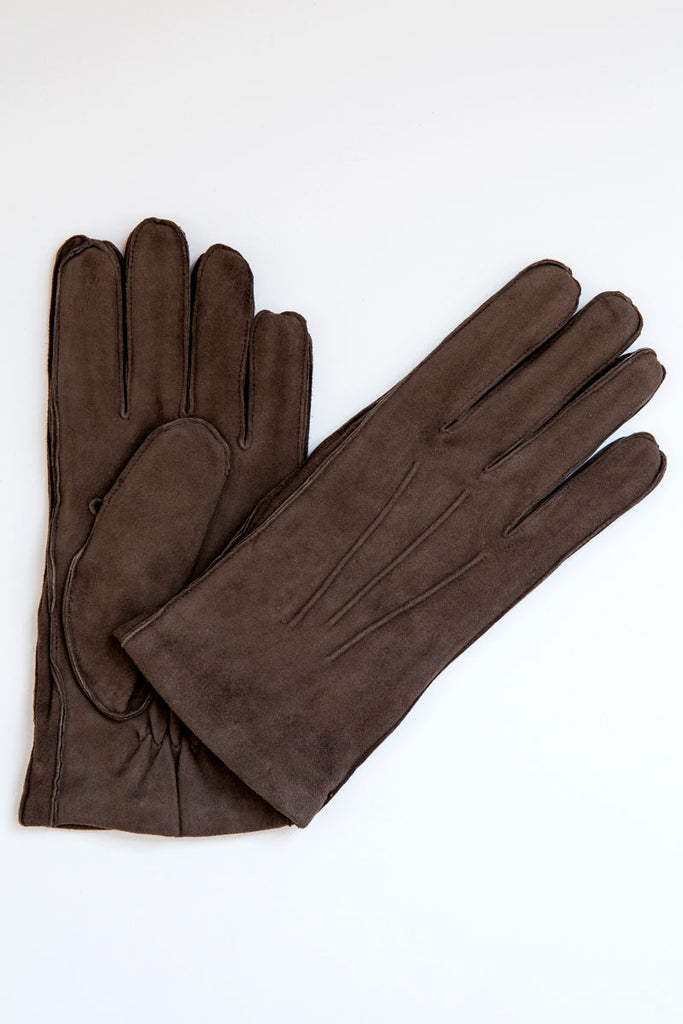 orciani brown suede gloves