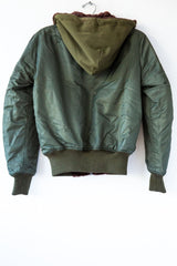 R13 Olive Reversible Flight Bomber Jacket