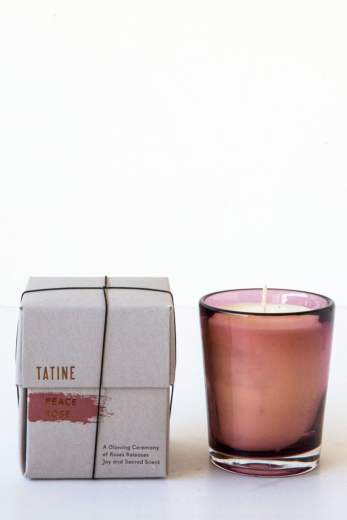 Tatine Peace Rose Candle