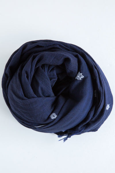 local navy alcea scarf