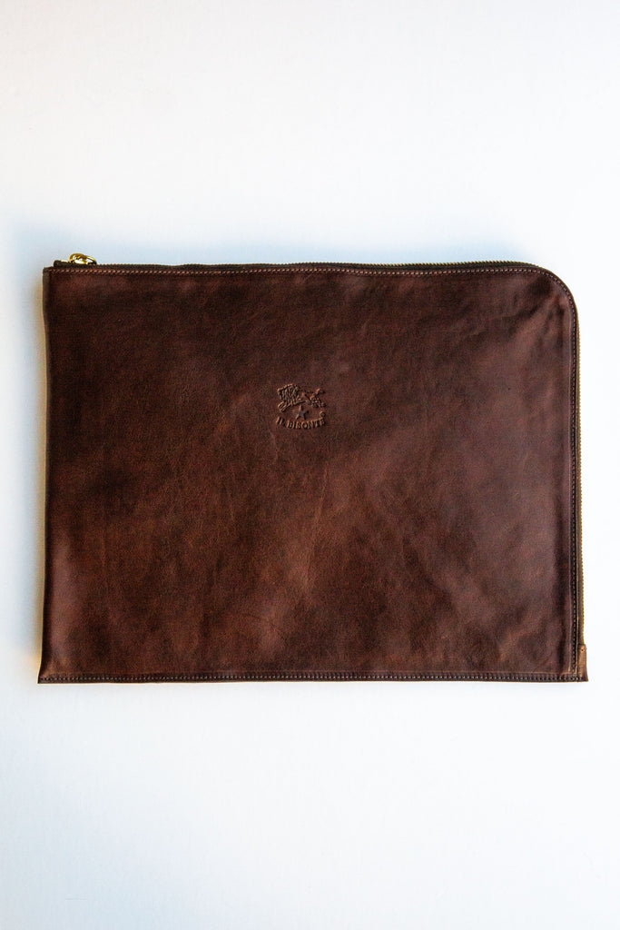 il bisonte brown porta document holder