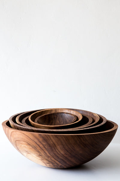 peterman walnut wood bowls