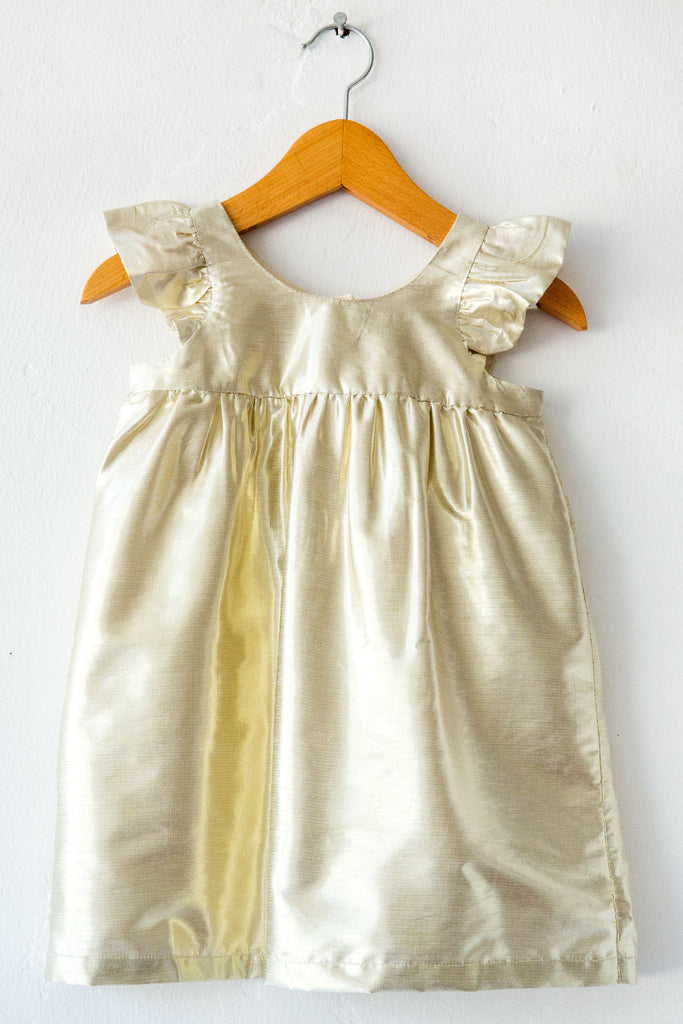 louis louise gold marily dress