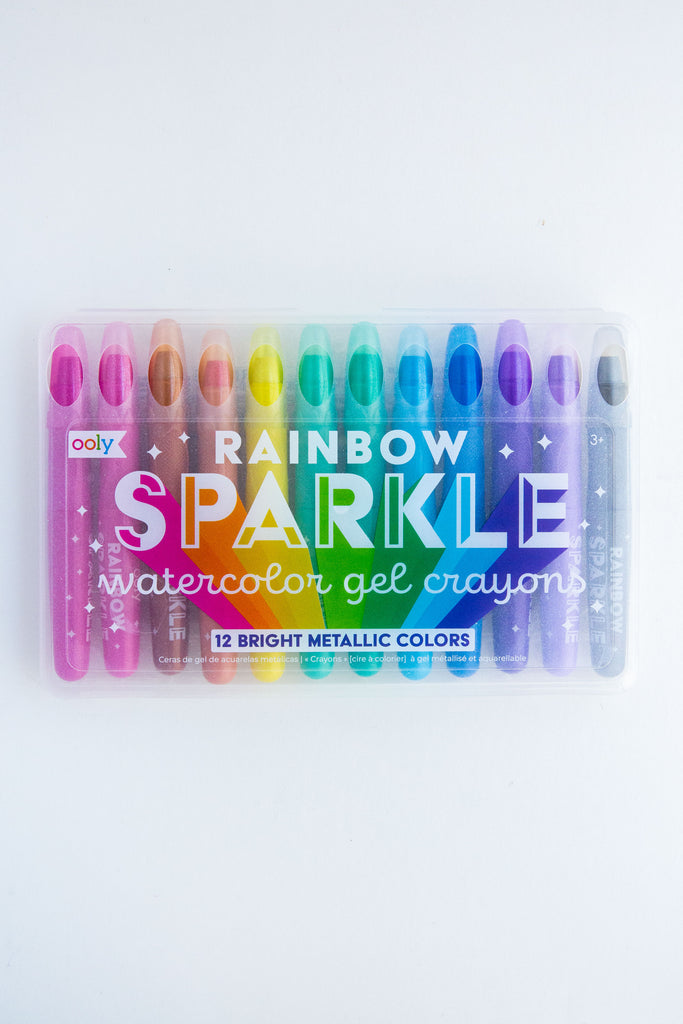 Rainbow Sparkle Gel Crayons