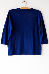 lost & found indigo 3/4 sleeve tee