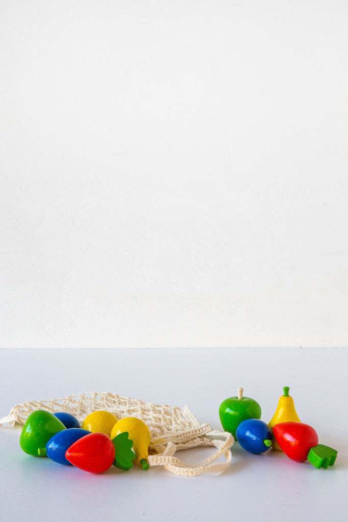 Wooden Toy Fruit Shopping Net