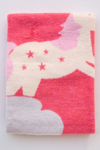 David Fussenegger Hot Pink Unicorn Blanket