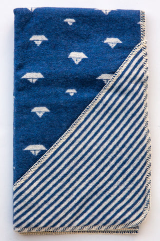 David Fussenegger Blue Sailboat  Blanket