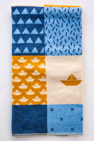David Fussenegger Blue /Gold Maritime Blanket