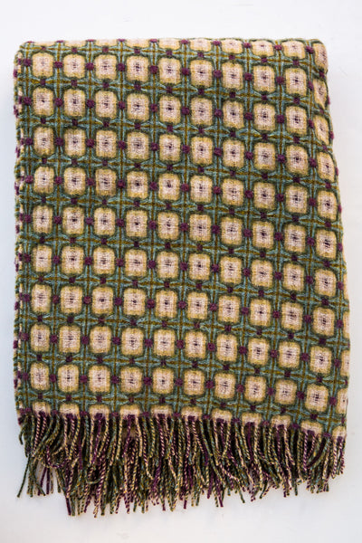 paulette rollo basket weave heather throw