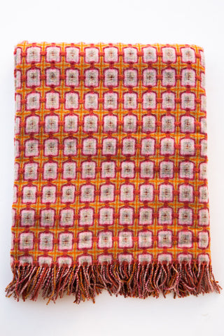 paulette rollo basket weave terracotta throw