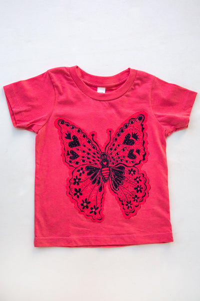 lucky fish coral monarch tee