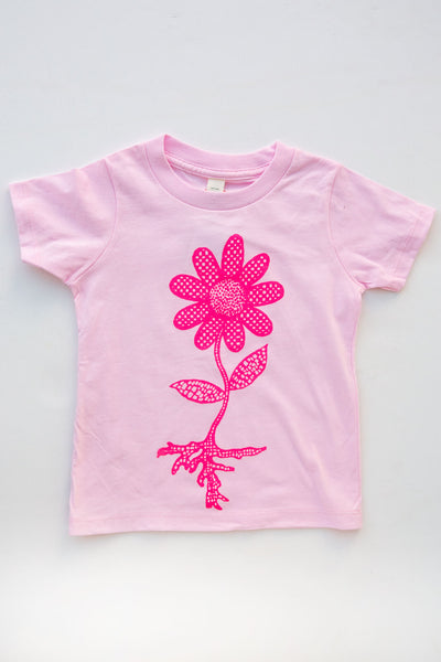 lucky fish rose flower power tee