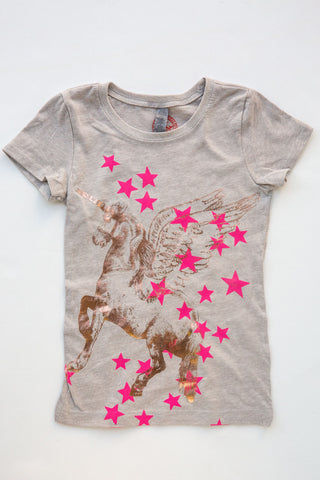 lucky fish grey unicorn tee